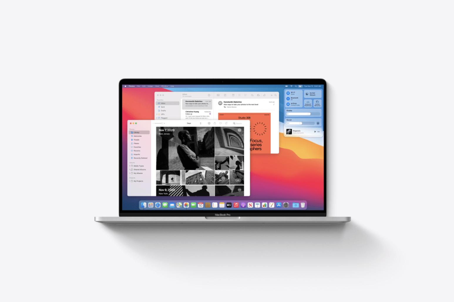Mac OS Big Sur Visual Changes