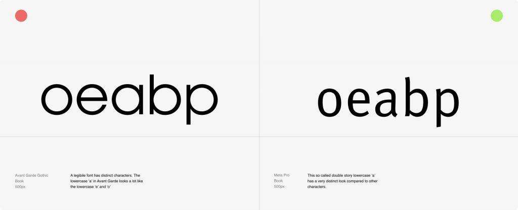 Legibility Example Font